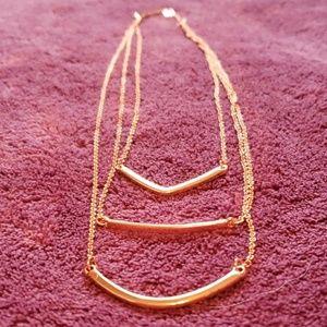 Baubelbar Rose Gold Layered Tier Necklace